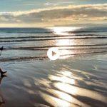 Al borde del mar en la Segunda del Sardinero