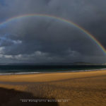 Un señor arco iris en el Sardinero