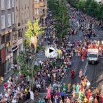 El desfile antes del chupinazo de la Semana Grande de Santander