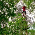 Tírate por tirolinas de 200 metros y entre árboles en Forestal Park Santander