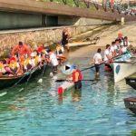 Navigatio Santander, la regata de remo clásico, que ayer surcó la bahía y el abra del Sardinero