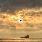 Con sol entre las nubes en el abra del Sardinero