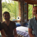 Con parte del equipo spain passion (Ángel, Pelayo y la simpática Jiaying) que nos hablan de los primeros días de rodaje en Cantabria….