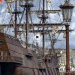 Ya está atracado el Galeón en el muelle Calderón, el primer barco que llega del Festival del Mar
