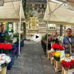Vero y Montse llenan de flores los aledaños del Ayuntamiento