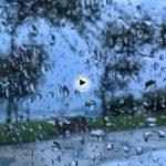 El sonido de la lluvia tras los cristales en el Sardinero