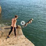 A Braco le encanta pegarse coles en la bahía de Santander en estos días otoñales