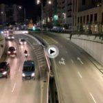 Por las calles de Santander con 7° de temperatura