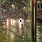 Amanecer con lluvia en las calles de Santander