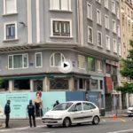 8 de la mañana… relativa tranquilidad en el edifico Joyería Salamanca, en riesgo de derrumbe. Tramo de Isabel ll cortado y zonas peatonales adyacentes