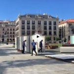 Comienza el montaje de casetas en la plaza de Alfonso XIII