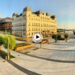 La zona abierta de la plaza de Italia abierta al público vista desde las alturas
