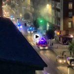 22 horas… se incendia un vehículo en Marqués de la Hermida y se produce un pequeño atasco