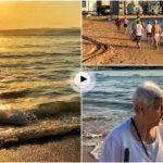El Sardinero… lo que te encuentras al borde del mar a las 8 de la mañana