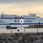 Ayer vimos navegar y en puerto al nuevo buque Galicia, última incorporación de Brittany Ferries a su flota