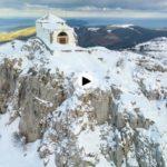 La ermita de las Nieves haciendo honor a su nombre
