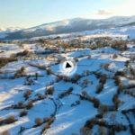 Impresionante el valle de Toranzo bajo la nieve