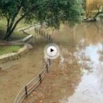 Ayer vimos el estanque de Mataleñas al que no le entra una gota más