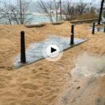 El viento sur desplaza toneladas de arena en la península de la Magdalena