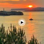 Momentos de paz que transmiten estos amaneceres desde la península de la Magdalena