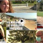 Anoche salimos en la tele en RTVE en un bonito reportaje sobre la península de La Magdalena