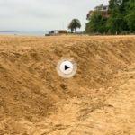 La playa de los Peligros recupera arena. Así nos la hemos encontrado