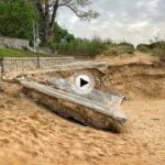 7 de mayo y así continúa la playa de los Peligros