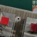 Ya están en Puertochico los dos surtidores que suben y bajan con la marea. No nos falta de nada