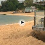 La playa de los Peligros recupera bastante arena. Así nos la hemos encontrado hoy