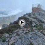 Desde el único lugar de Cantabria que las aguas se vierten a tres mares. Desde el pico Tres Mares