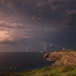 La tormenta de anoche vista desde cabo Mayor